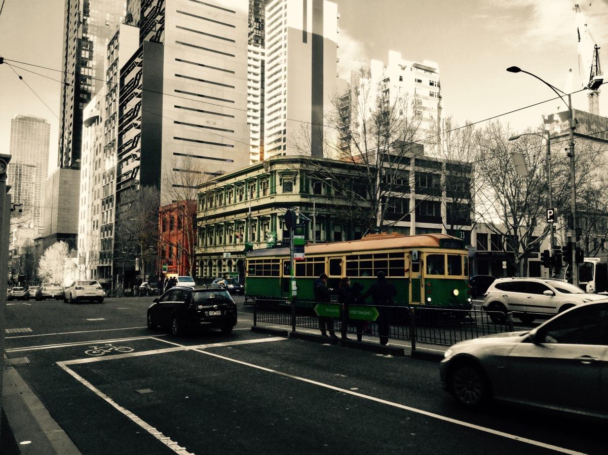 Ruta por el centro de Melbourne