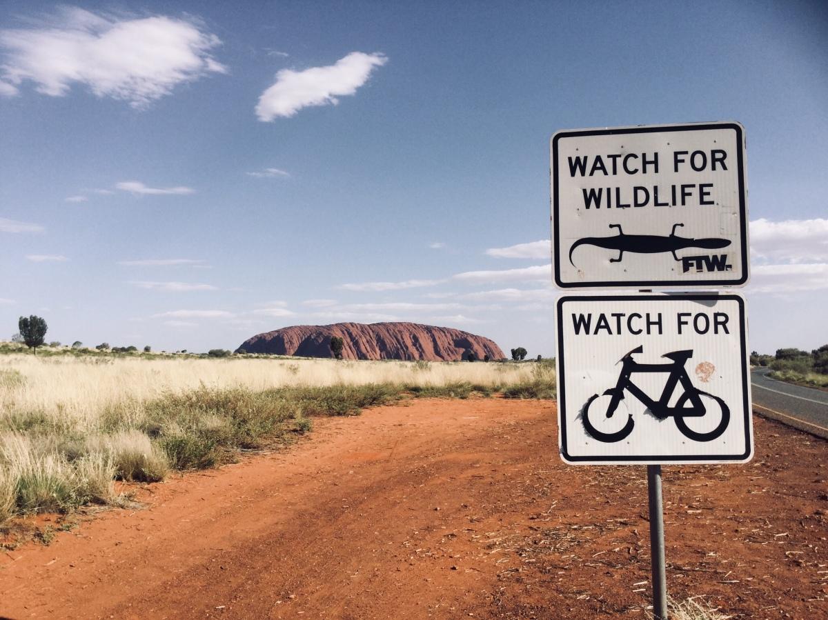 Visita al Uluru, Australia